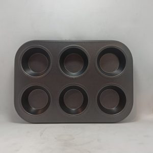 Cup Cake Tray 6 Cavity | By Chefiality.pk