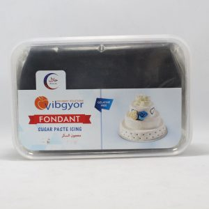 Vibgyor Fondant Black 1kg | By Chefiality.pk