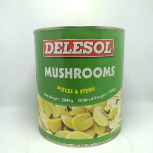 Delesol Mushrooms Slice 2840 gm | By Chefiality.pk