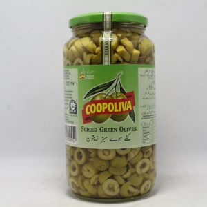 Coopoliva Green Olives 935gm   By Chefiality.pk